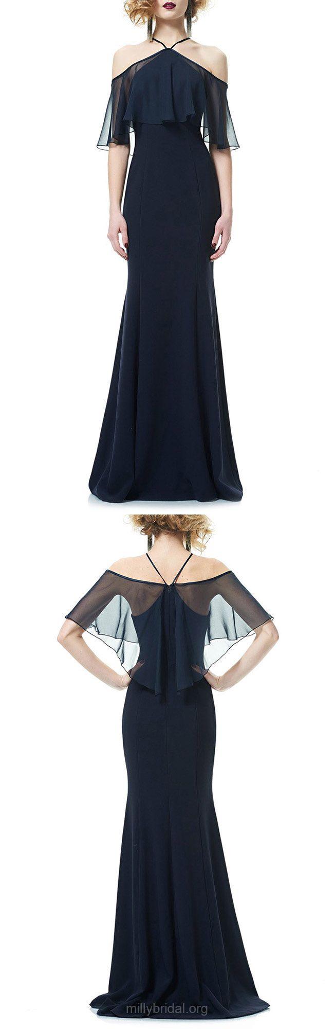 Dark navy prom dresses long cheap formal dresses mermaid