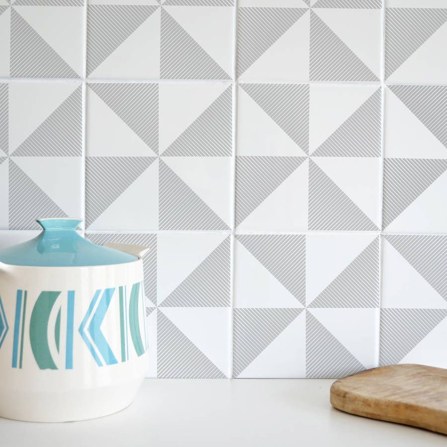 Tile Tattoos Sandown Grey: What a great idea for bathrooms or ...