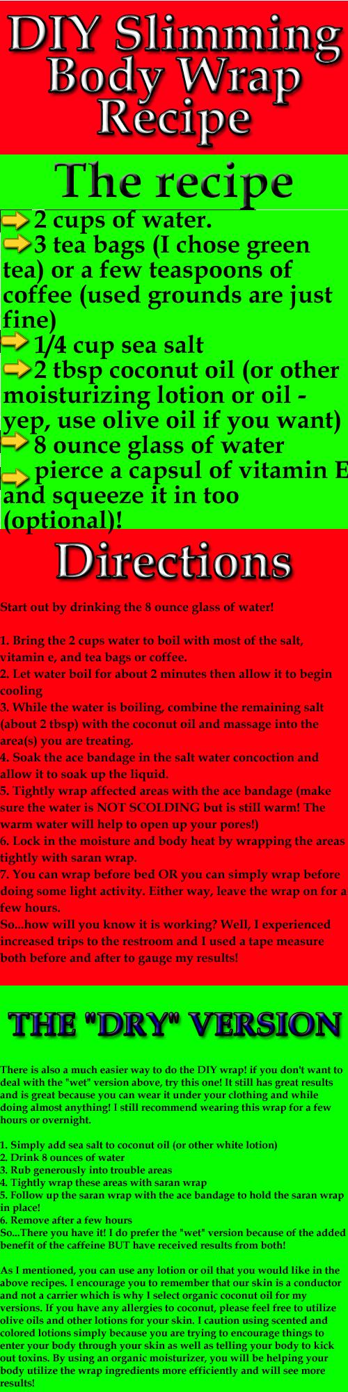 Diy Slimming Body Wrap Recipe Ab Workouts Sum Slimming Body
