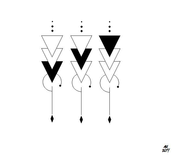 Triangle Tattoo Idea For Siblings Geometric Art In Line Work