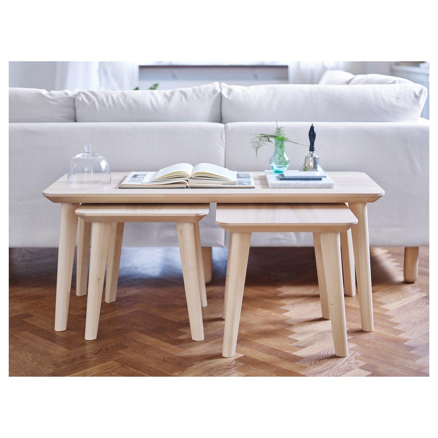 IKEA LISABO ASH Veneer Side table Ikea coffee table