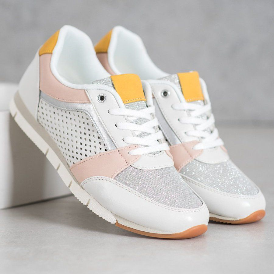 Kylie Azurowe Buty Sportowe Biale Sports Shoes Shoes Sneakers