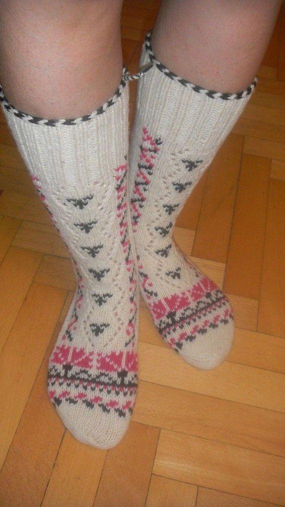 New Handmade Turkish Traditional Wool Woman Hiking Casuel Sock ...