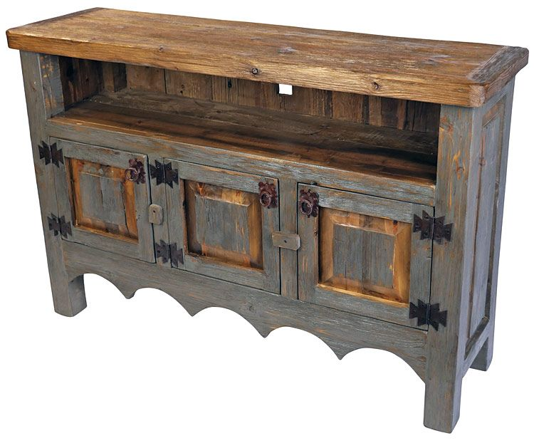 unique rustic furniture. Rustic Furniture · Painted Wood TV Stand Entertainment Credenza. The Unique Texture Of This E