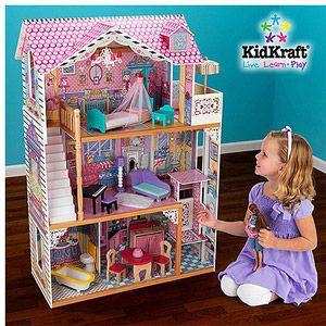 Walmart Kidkraft Annabelle Dollhouse With Furniture Barbie Doll House Doll House Kidkraft