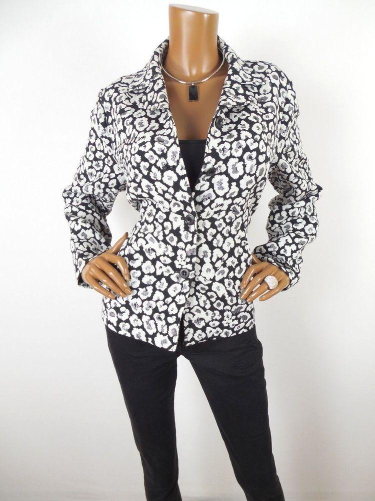 Details About Chico S Sz 2 Womens Top L Plaid Shirt Button Down