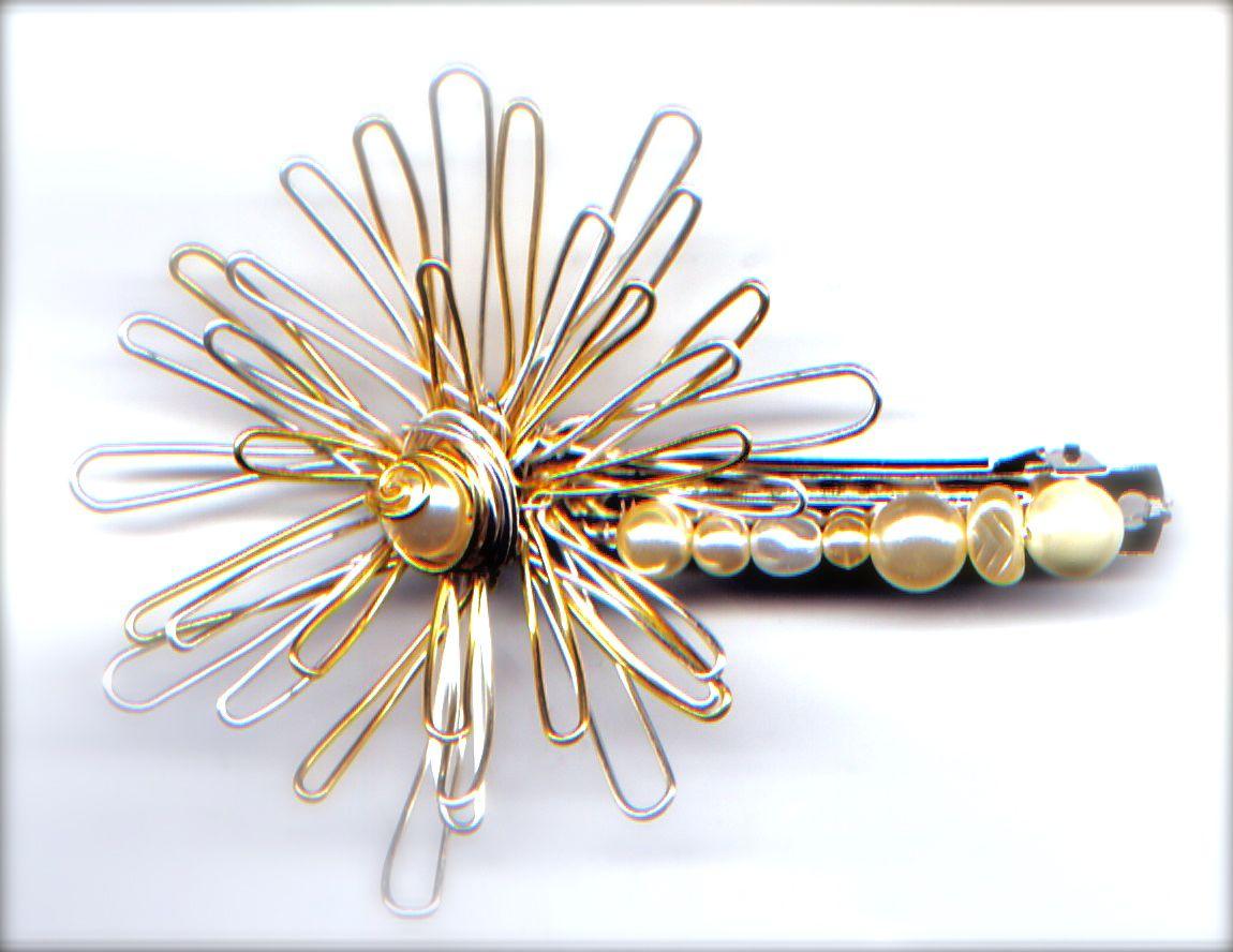 Chrysanthemum hairgrip as shown in a tutorial on bead tv bead tv