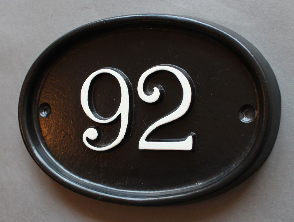 Personalised Cast House Number Sign Black Antique Vintage Door Plaque Plate Np01 Personalized Signs For Home Home Signs Address Numbers Sign