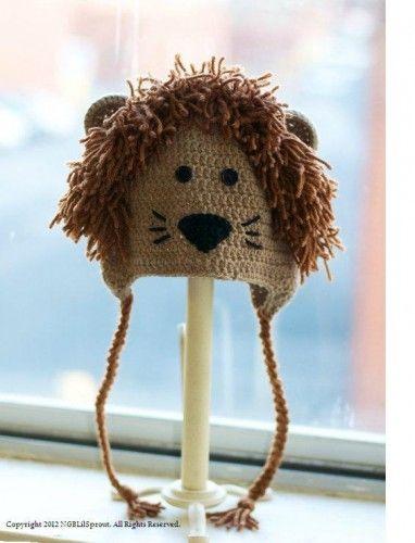 Crochet Lion Hat | Bufandas | Pinterest | Gorros, Tejido y Gorro tejido