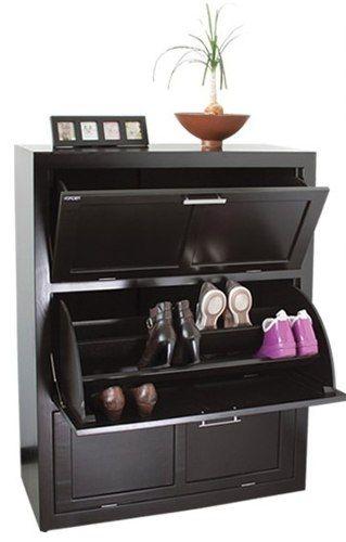 Mueble zapatero de madera para 36 pares organizando for Mueble zapatera hasta 32 pares zapatos