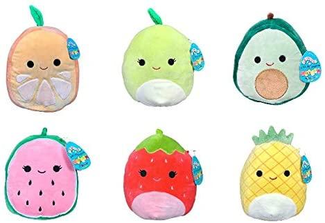 Amazon Com Squishmallow Kellytoy Set Of 6 Mini 5 Fruits Collection Plush Doll Toys Games Plush Dolls Plush Toy Plush Toy Dolls