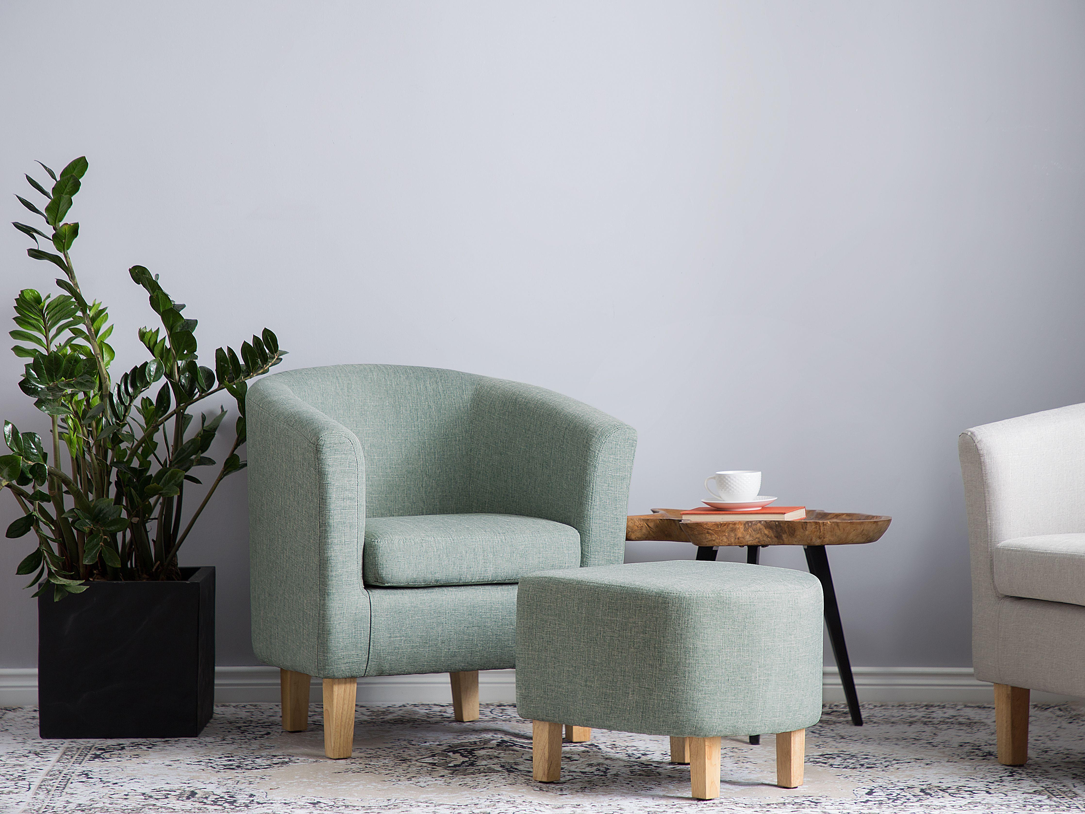 Fauteuil en tissu vert Holden | Tissu fauteuil, Mobilier de