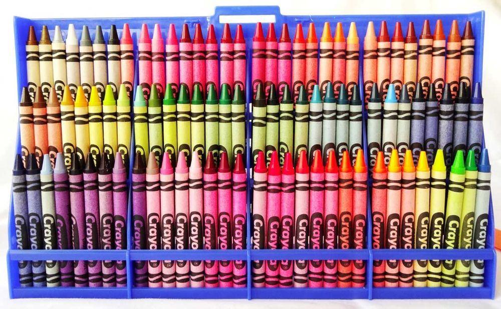 crayola plastic 96 crayon case w vintage crayons box retired colors