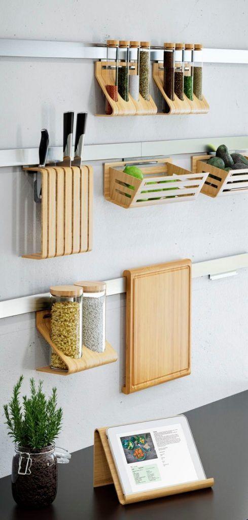 ahorrar espacio en la cocina 14 | hogar | Pinterest | Wandgestaltung ...