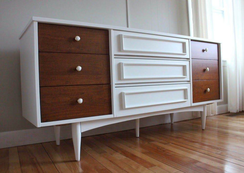 Best Blue Lamb Furnishings White Wood Mcm Dresser Credenza 400 x 300