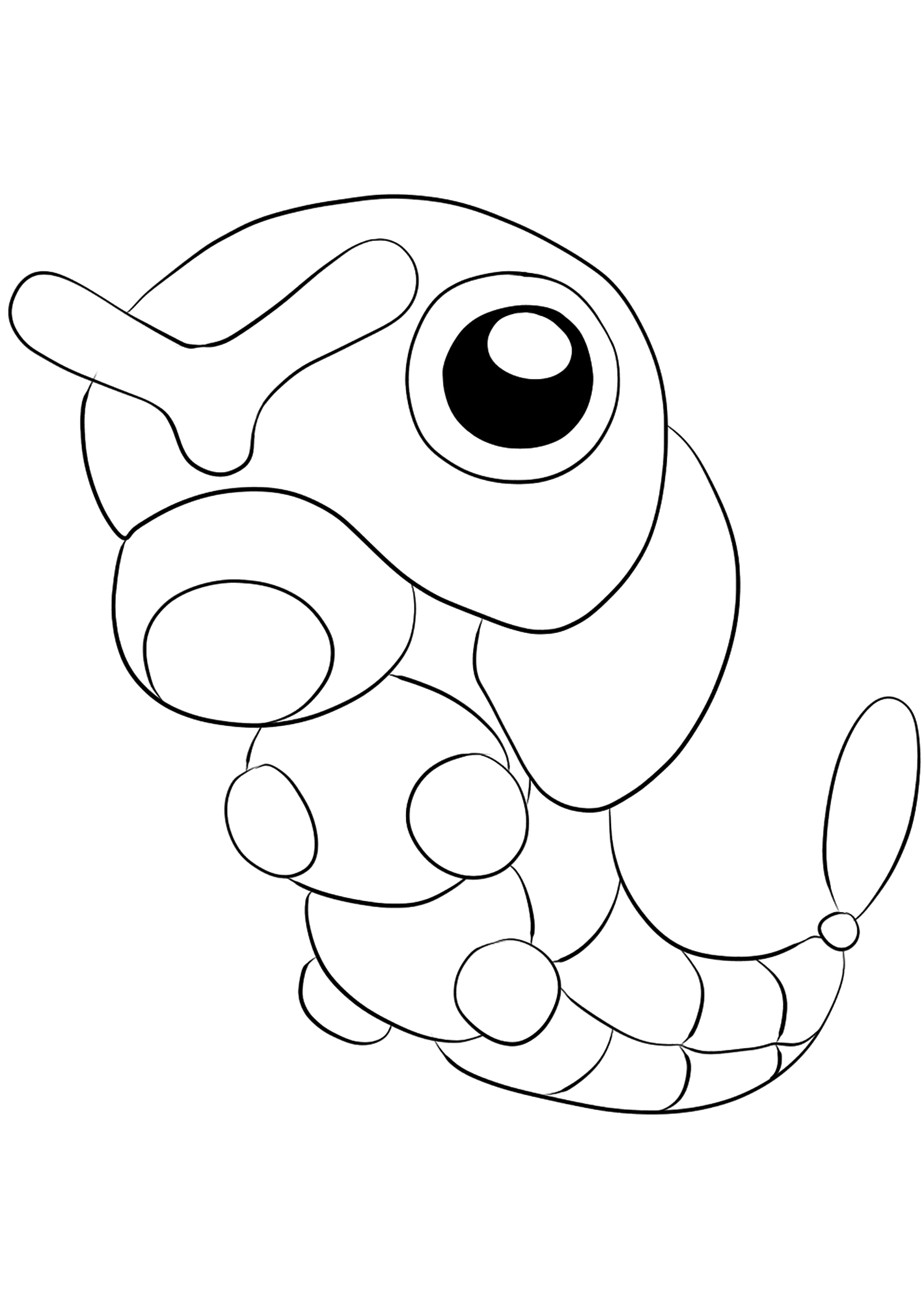 Caterpie No 10 Caterpie Coloring Page Generation I Pokemon Of Type Bugoriginal Image Credit Pokemon L Pokemon Coloring Coloring Pages Pokemon Coloring Pages