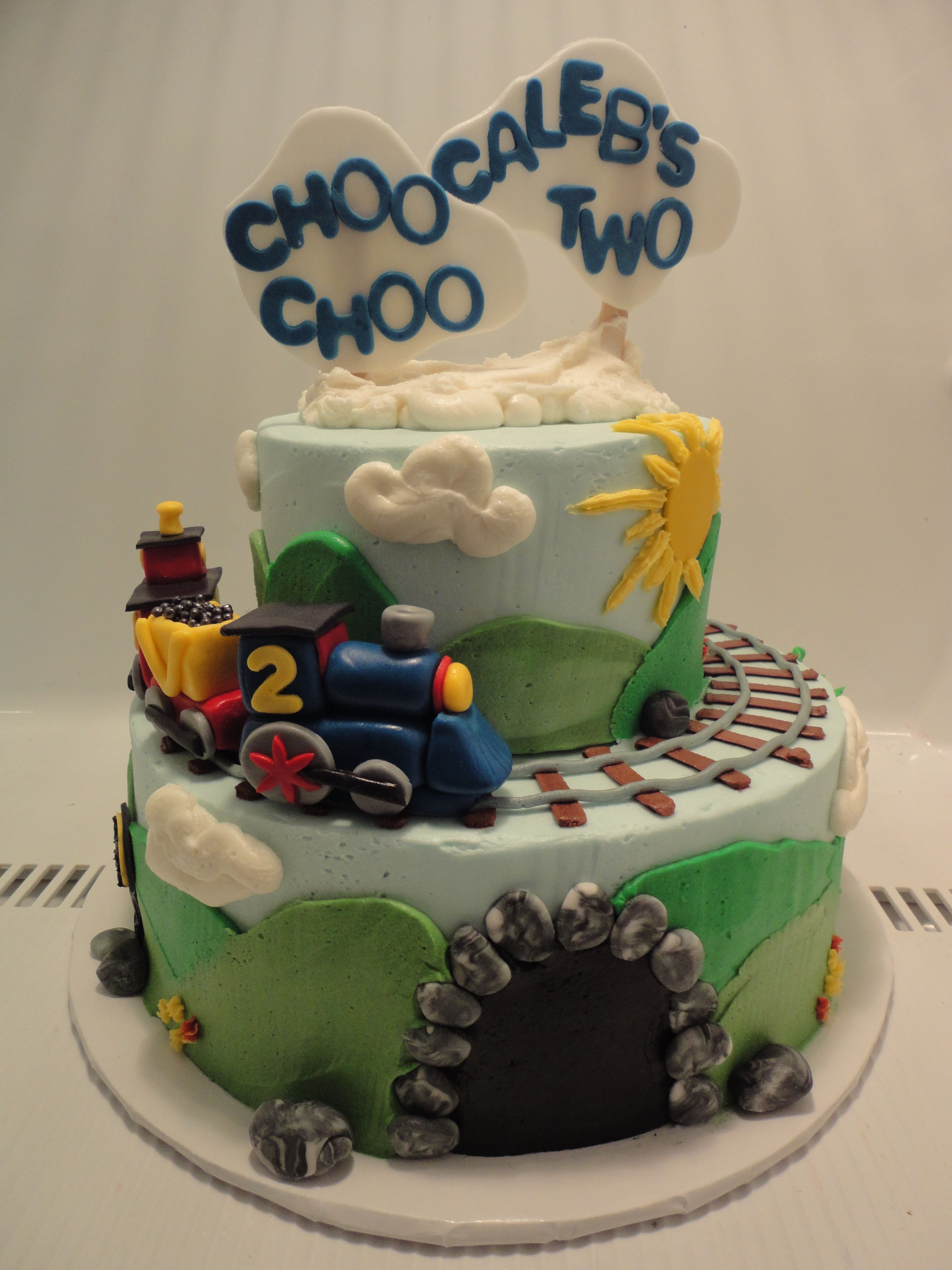 Choo Choo Train Birthday Cake A Little Sweet Bite Pinterest