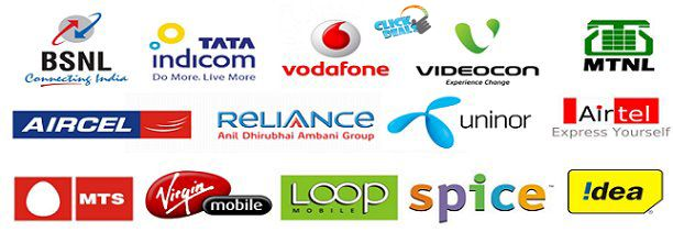 You can recharge Airtel, Idea, Aircel, Vodafone, Reliance, S-TEL