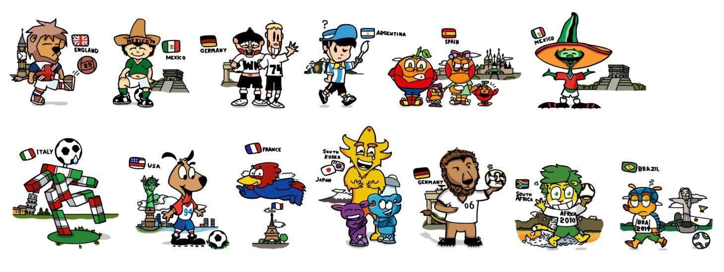 World Cup Mascots By Douglasartgallery Fan Art Art Creative Work