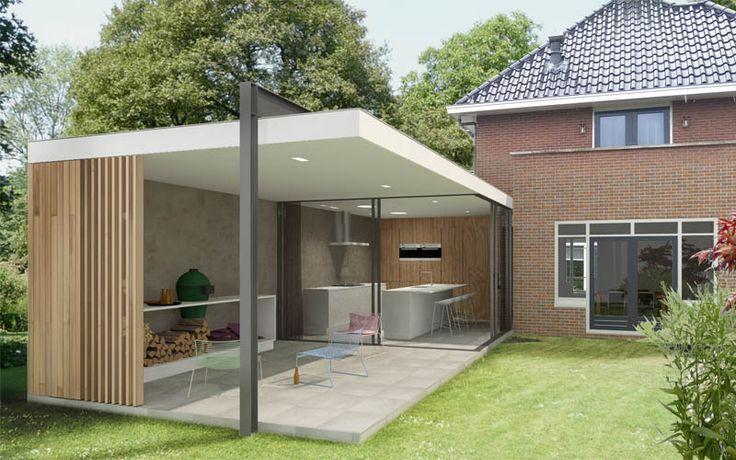Industriele overkapping aan huis google zoeken huis pinterest verandas pergolas and gardens - Veranda modern huis ...