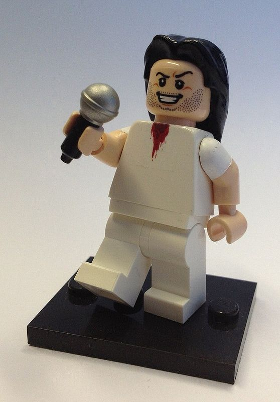 Party Hard!    Well, as hard as ABS plastic will allow (R105 on the Brinell and Rockwell scale).    A custom LEGO minifig of party metal guru Andrew WK.