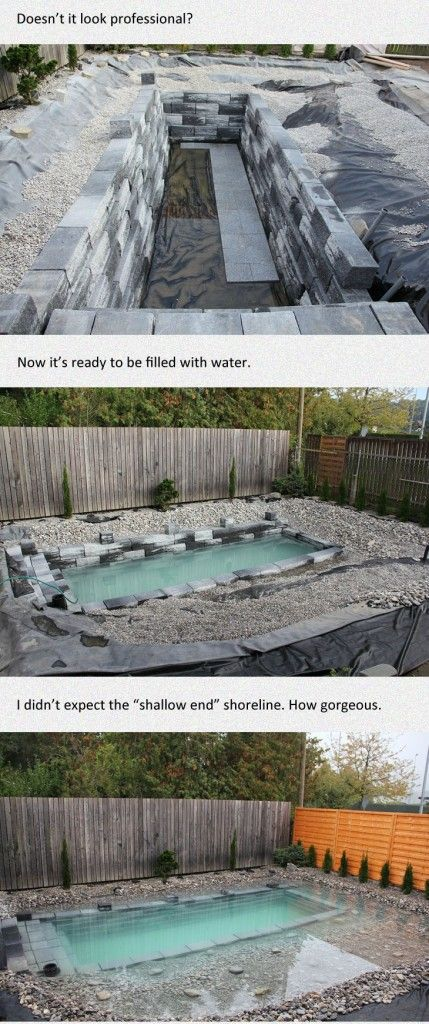 Cool Pool Project Rocks Filled Water