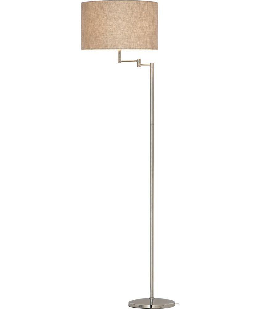 Buy Heart Of House Helsinki Swing Arm Floor Lamp Chrome At