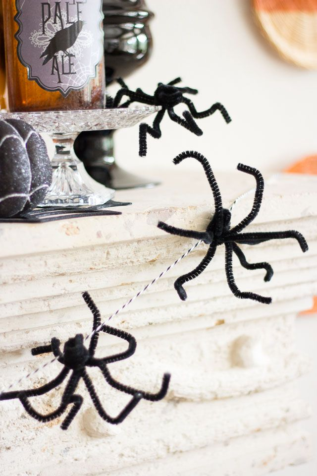 Halloween Spider Garland To be, Them and Meant to be - spiders for halloween decorations