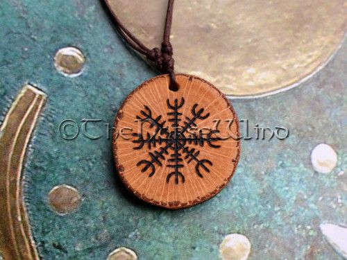 037f5cbd14d37 Aegishjalmur Rune Necklace Protection Amulet The Helm of Awe Norse ...