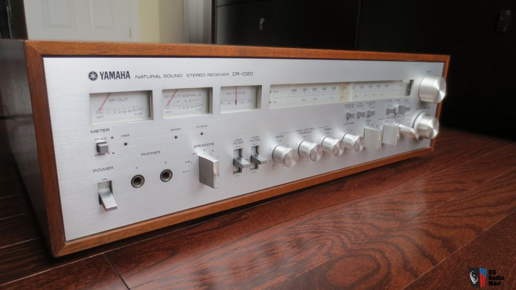 Yamaha Cr 1020 Stereo Receiver Vintage Retro Music Setup