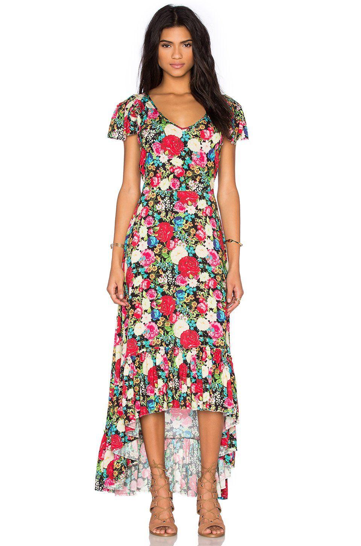 Floral Maxi Dress Floral Maxi Dress Viscose Maxi Dress Wildfox Couture [ 1450 x 960 Pixel ]