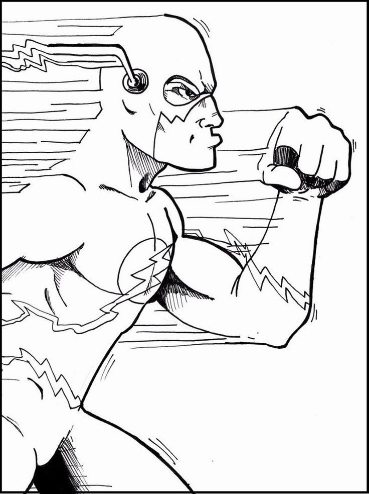 Awesome Flash Coloring Pages Ideas Superhero coloring