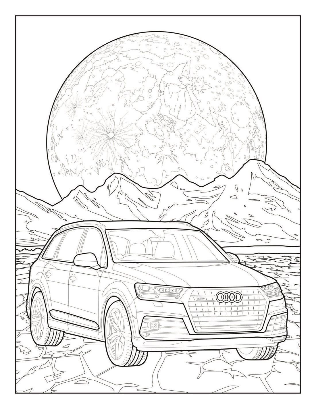 Race Car Coloring Books Audi And Mercedes Release Coloring Pages To Battle In 2020 Cars Coloring Pages Cat Coloring Book Hello Kitty Colouring Pages