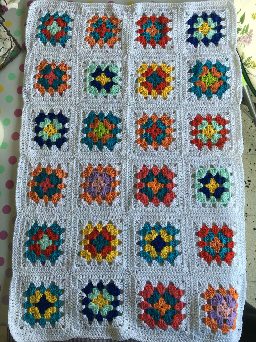 Handmade. crochet infant blanket  BayouLab