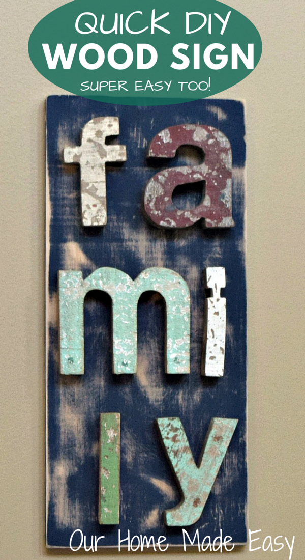 An easy way to use up leftover paint, spare wood, and letters! Any letter and any paint will work! Click to see the step by step instructions!
