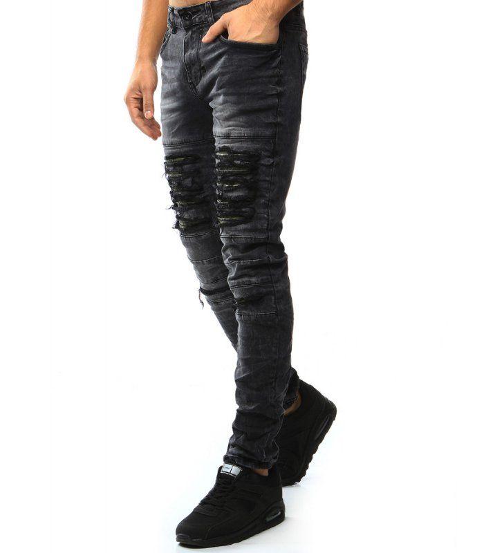 e2f7297d24a6 Pánske čierne džínsové nohavice