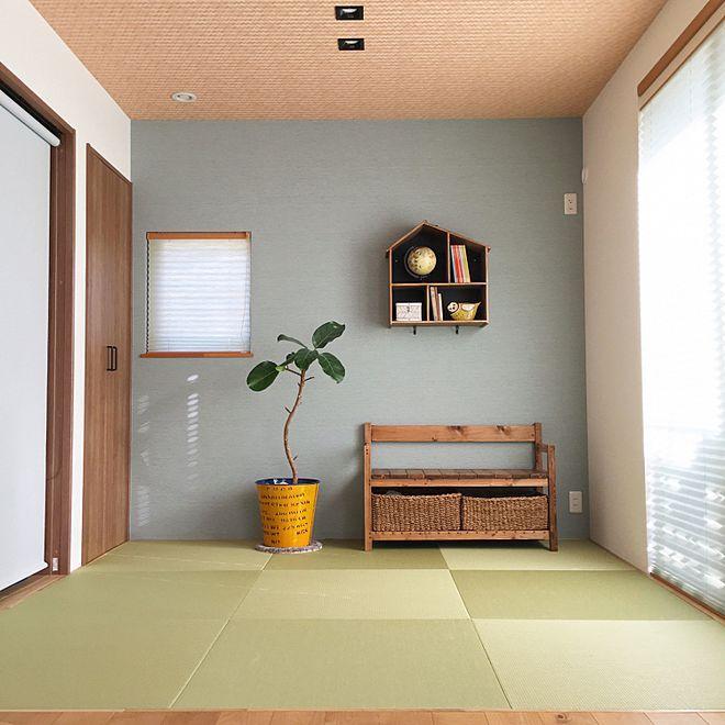 壁 天井 Panasonic ヘリンボーン 天井 プリーツスクリーン 琉球畳