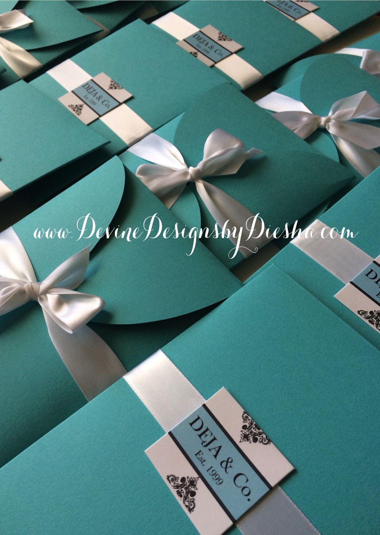 Tiffany & Co. Sweet 16 Birthday Invitations | Stationery ...