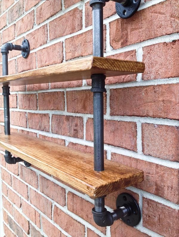 diy pallet iron pipe. Double Bookshelf Curio Shelf Vintage Industrial Reclaimed Wood By IReclaimed On\u2026 Diy Pallet Iron Pipe