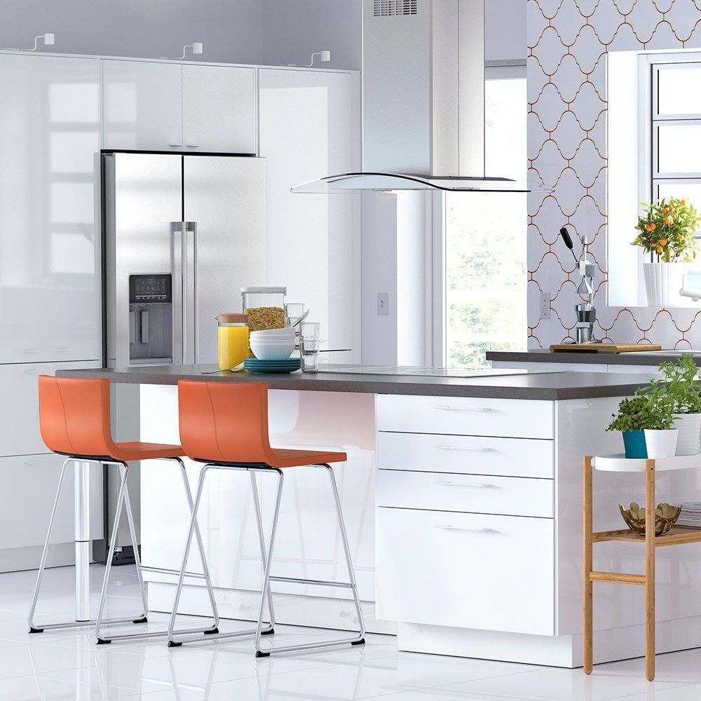 Une Chaise Haute Orange Ikea Chaise Haute Cuisine Cuisine