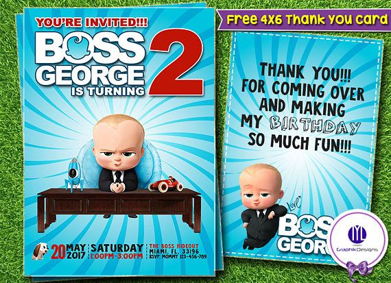 Boss Baby Invitation Boss Baby Birthday Boss Baby Party Baby Invitations Boss Baby Birthday Invitation Templates