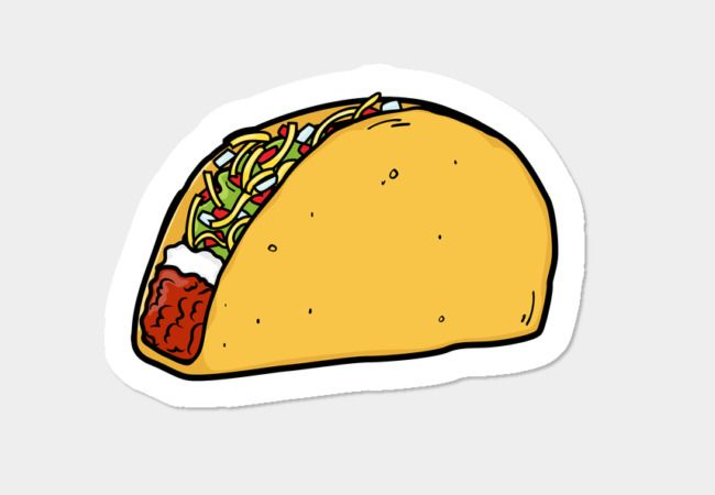 Taco Stickers By Markglass Design By Humans Emoji Stickers Bubble Stickers Sticker Design