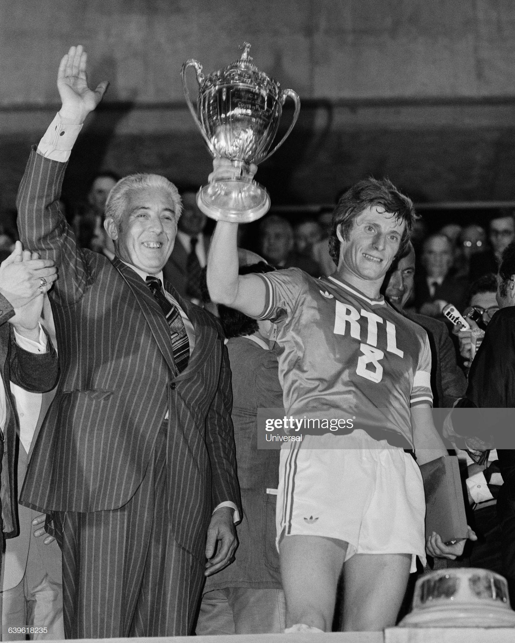 Jean Michel Larqué et Roger Rocher victoire en coupe face