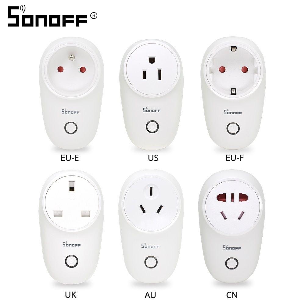 Sonoff S26 WiFi Smart Socket Plug US/UK/CN/AU/EU Wireless Power