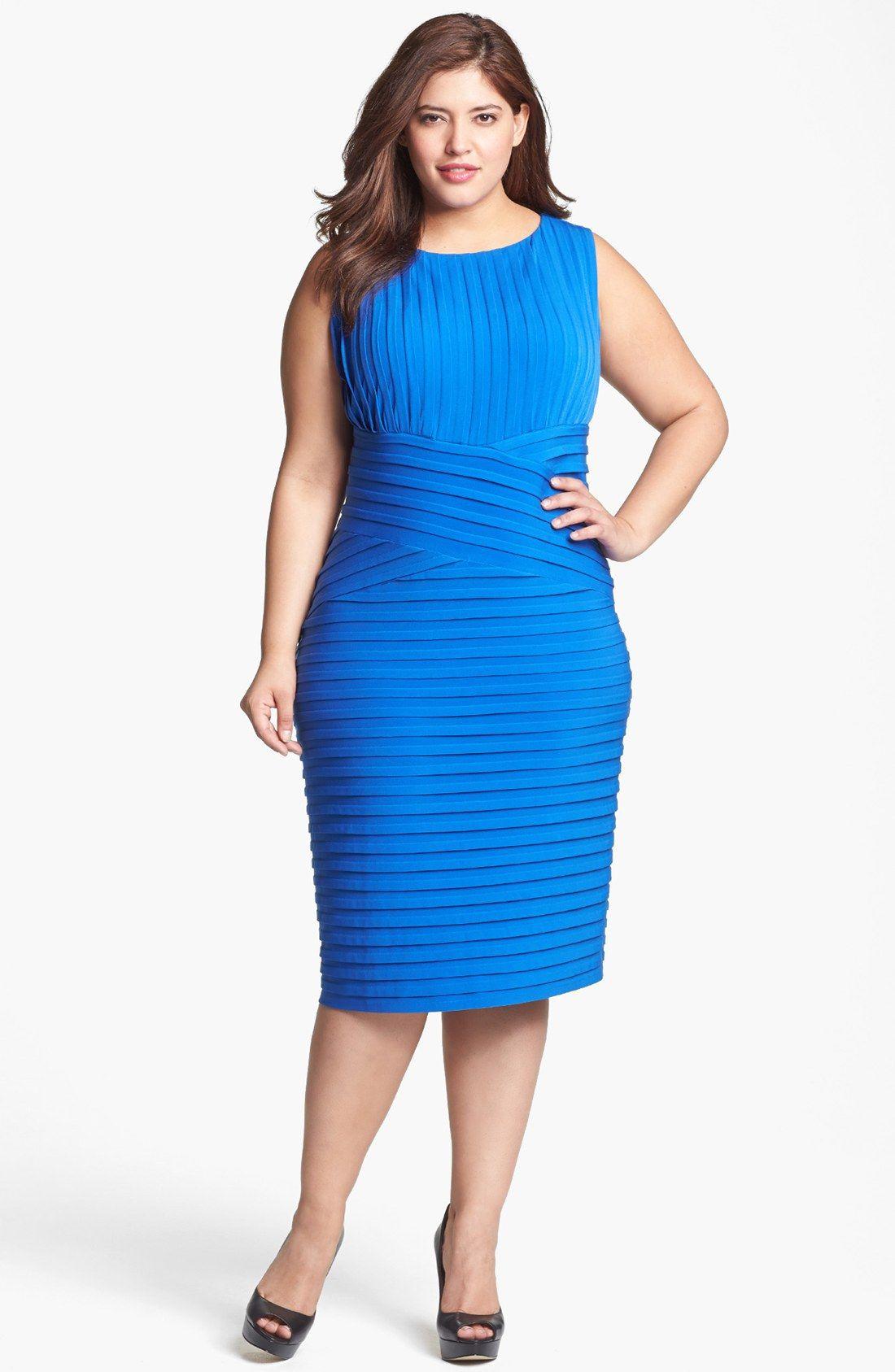 Calvin Klein Bandage Dress (Plus Size) | Nordstrom | modas | Pinterest