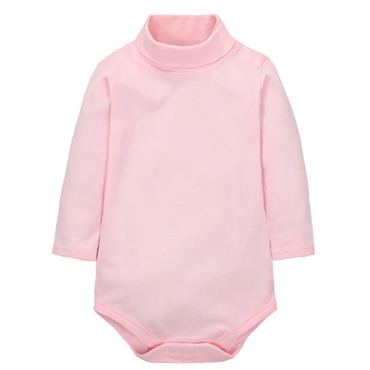 Baby Girls Boy Bodysuits Cotton Soft Newborn Solid Turtleneck Shirts Clothes PJS