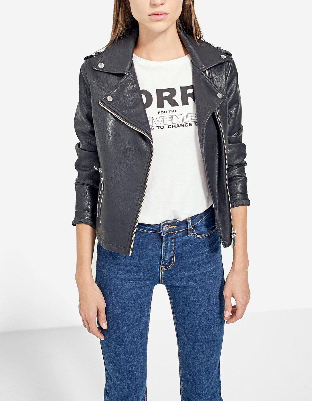 Superdry Veste en Cuir Femmes Rylee leather biker black