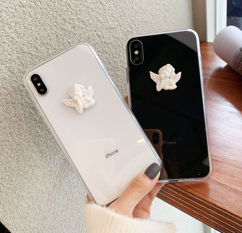 Ouroba Clear Mobile Case With Angel Motif Iphone 11 Pro Max 11 Pro 11 Xs Max Xs Xr X 8 8 Plus 7 7 Plus 6s 6s Plus Yesstyle Pretty Iphone Cases Iphone Aesthetic Phone Case