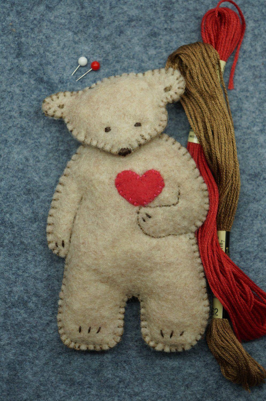 Bears Bears Bears Pdf Instant Download Pattern Woodland Plushie Handmade Felt Ornament Handmade Felt Ornament Felt Ornaments Handmade Felt