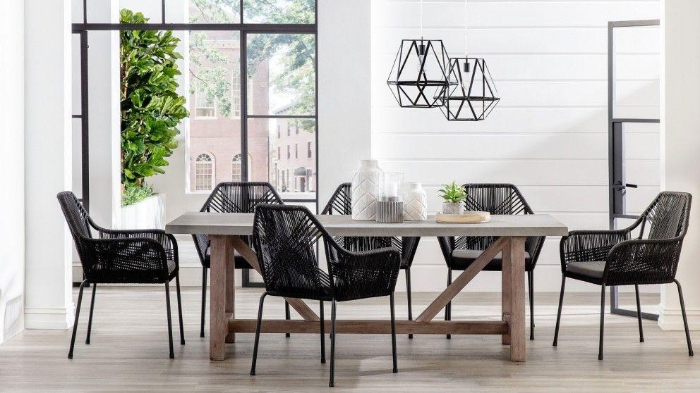 Faro Dining Armchair   Black | Domayne